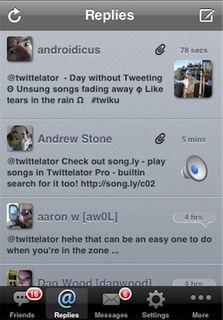 Twittelator Tweet Screen